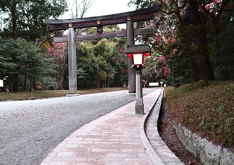 明治神宮参道石板鋪装工事(東京都)